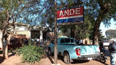 Delincuentes asaltaron agencia de la ANDE en Caaguazú