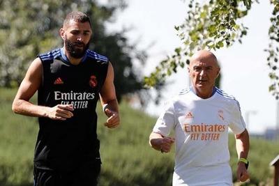 Karim Benzema devuelta a los entrenamientos con el Real Madrid