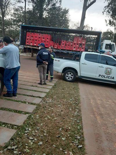 Atracan camión repartidor en Guairá