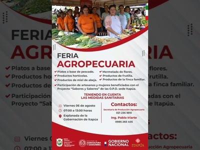 INVITAN A LA GRAN FERIA AGROPECUARIA EN LA GOBERNACIÓN DE ITAPÚA