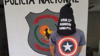 """Detienen al """"Capitán América"""" en Loma Pytã"""