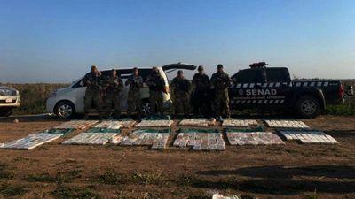 Senad incauta una carga de 372 kg de cocaína en Itapúa