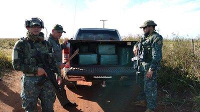 En una semana Senad incautó casi una tonelada de cocaína en cuatro operativos