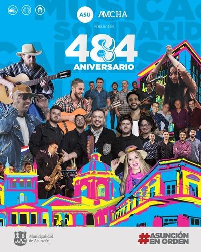 Asunción celebrará 484° aniversarios de su fundación con variada propuesta artístico cultural