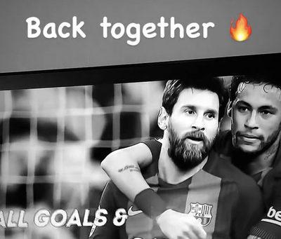Neymar ya le dio la bienvenida a Messi