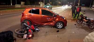 Accidente de tránsito deja un lesionado y daños materiales