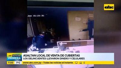 Asaltan local de venta de cubiertas en Fernando de la Mora