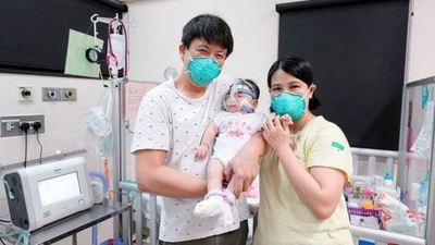 ¡Milagro! Bebé que nació con 212 gramos de peso se va a casa tras 13 meses hospitalizada