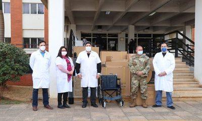 Hospital de Clínicas recibe donación de insumos médicos de EE.UU.
