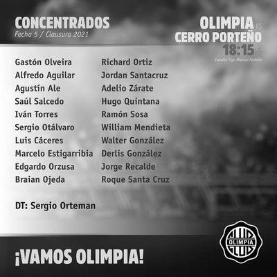 Olimpia: la vuelta de Agustín Ale y la ausencia de Néstor Camacho