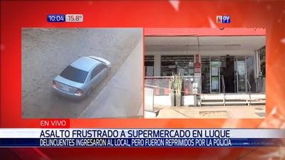 Policía frustra intento de asalto a un supermercado en Luque