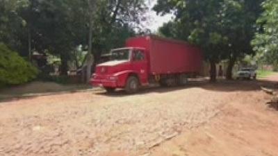 Conflicto de camioneros en cruce Villarrica- Paraguarí
