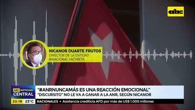"""""""#ANRNuncaMás es una reacción emocional"""", """"Discursito"""" nunca le va a ganar a la ANR, según Nicanor"""