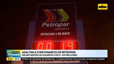 Asaltan a funcionarios de Petropar en Fernando de la Mora