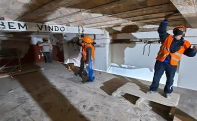 Edificio histórico del Puerto de Asunción está en un 80% restaurado