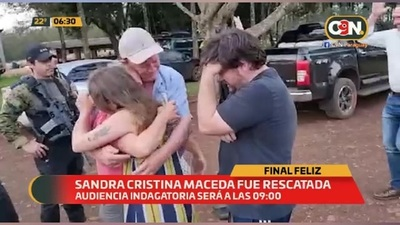 Sandra Cristina Maceda fue rescatada
