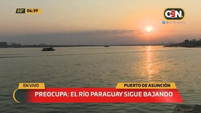 Preocupa: el Río Paraguay sigue bajando