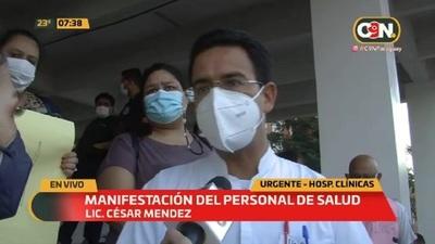 Manifestación del personal de salud