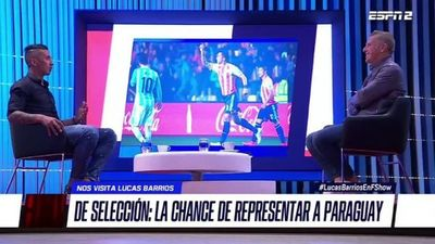 Lucas Barrios explica lo que significó jugar para Paraguay