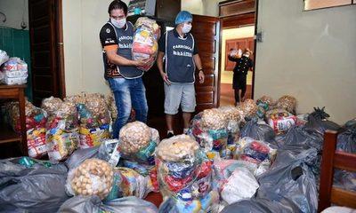 Más de 12.000 Kg de alimentos para familias de Franco y Minga Guazú