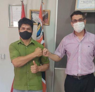 Alcides Meireles fue recibido por el gobernador de Amambay esta mañana
