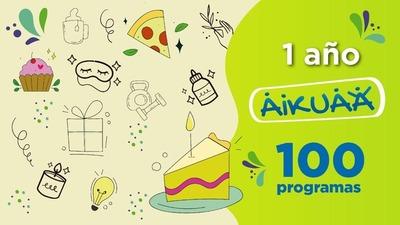 """Programa para emprendedores """"Aikuaa"""" cumple 1 año y sus primeros 100 capítulos"""