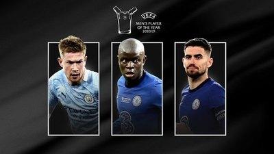 Kanté, Jorginho y De Bruyne; nominados al trofeo de Jugador europeo del año