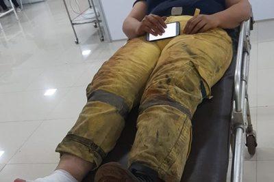 Bombero termina con quemaduras durante servicio en incendio