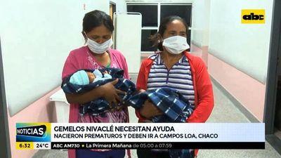 Gemelos Nivaclé necesitan ayuda para retornar a su comunidad