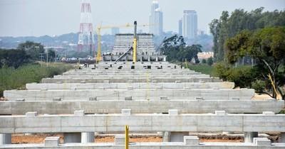 La Nación / Continúan las obras para la colocación de pilotes en el futuro puente Héroes del Chaco