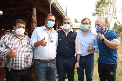 Gobernador de Caazapá acompañó Jornada de Gobierno de Mario Abdo en Canindeyú