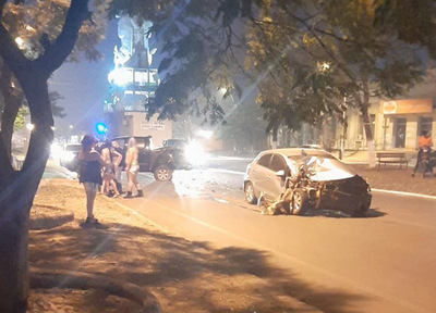 Accidente con daños materiales en Concepción