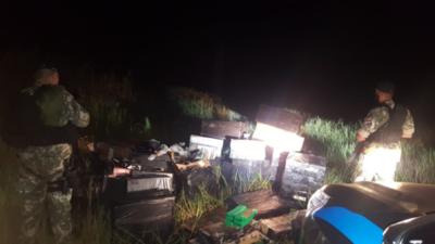 Incautan drogas, cigarrillos y réplicas de armas en ribera de Lago Itaipú