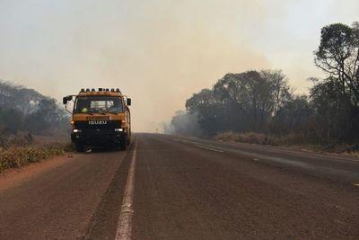 """Incendios dan una leve """"tregua"""" al Paraguay"""