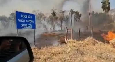 Incendio en el Parque Nacional Cerro Corá sigue sin poder controlarse