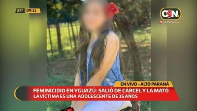 Feminicidio en Yguazú: Salió de la cárcel y la mató