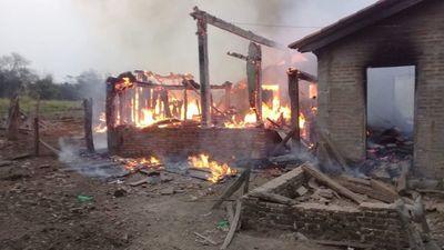 Anciana fallece durante el incendio de su vivienda