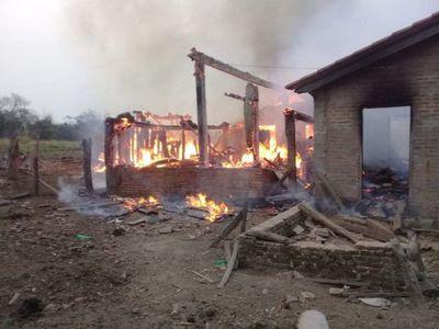 Abuelita muere durante el incendio de su vivienda