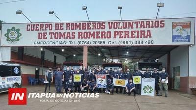 BOMBEROS SE CAPACITAN EN SISTEMA COMANDO DE INCIDENTES.