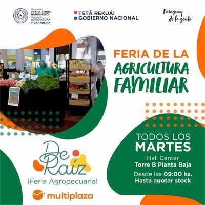 """Productores realizan hoy la feria agropecuaria """"De Raíz"""" en el Shopping Multiplaza"""