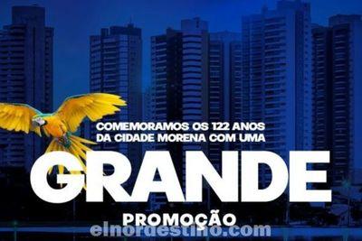 Promoción conmemorando 122 Años de Campo Grande desde el jueves 26 hasta el domingo 29 en Shopping China Importados