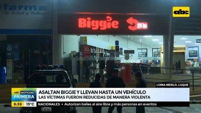 Asaltan local de Biggie en Luque y se llevan hasta un vehículo