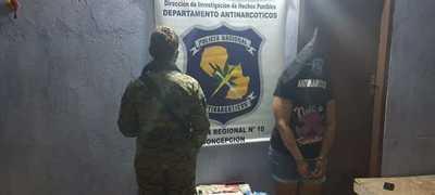Concepción: Tras allanamiento detienen a mujer con varias dosis de crack