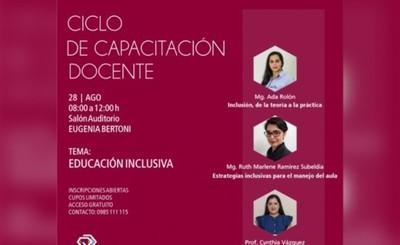 Invitan a capacitación docente sobre educación inclusiva