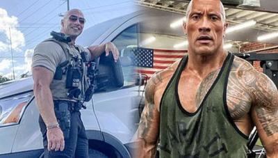 """¡Para las fans! Policía se vuelve famoso por ser el clon de Dawyne """"La Roca"""" Johnson"""