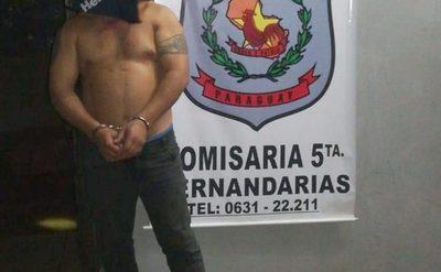 VIOLENTO SUJETO APREHENDIDO LUEGO DE AGREDIR A SU PAREJA