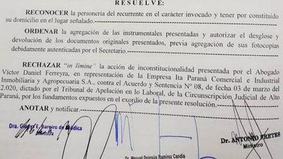 CORTE DECIDE QUE TERMINAL DE ÓMNIBUS SIGUE EN PODER DE LA MUNICIPALIDAD DE CDE