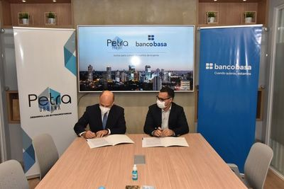 Banco Basa firma alianza para la financiación de viviendas en el edificio Petra Tower