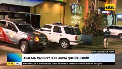 Asaltan casino e hieren a guardia de seguridad