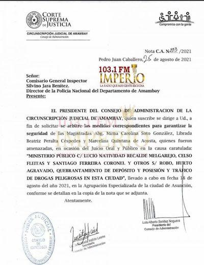 Solicitan seguridad para juezas tras aplicación de elevadas condenas a enjuiciados por robo de droga de la jefatura